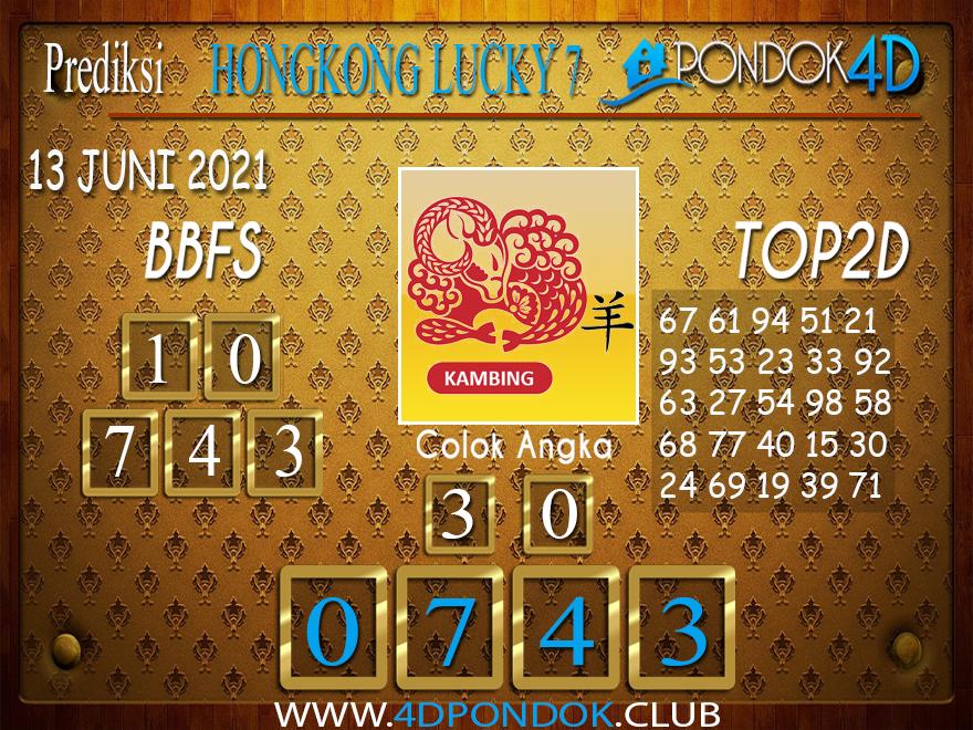 Prediksi Togel HONGKONG LUCKY7 PONDOK4D 13 JUNI 2021