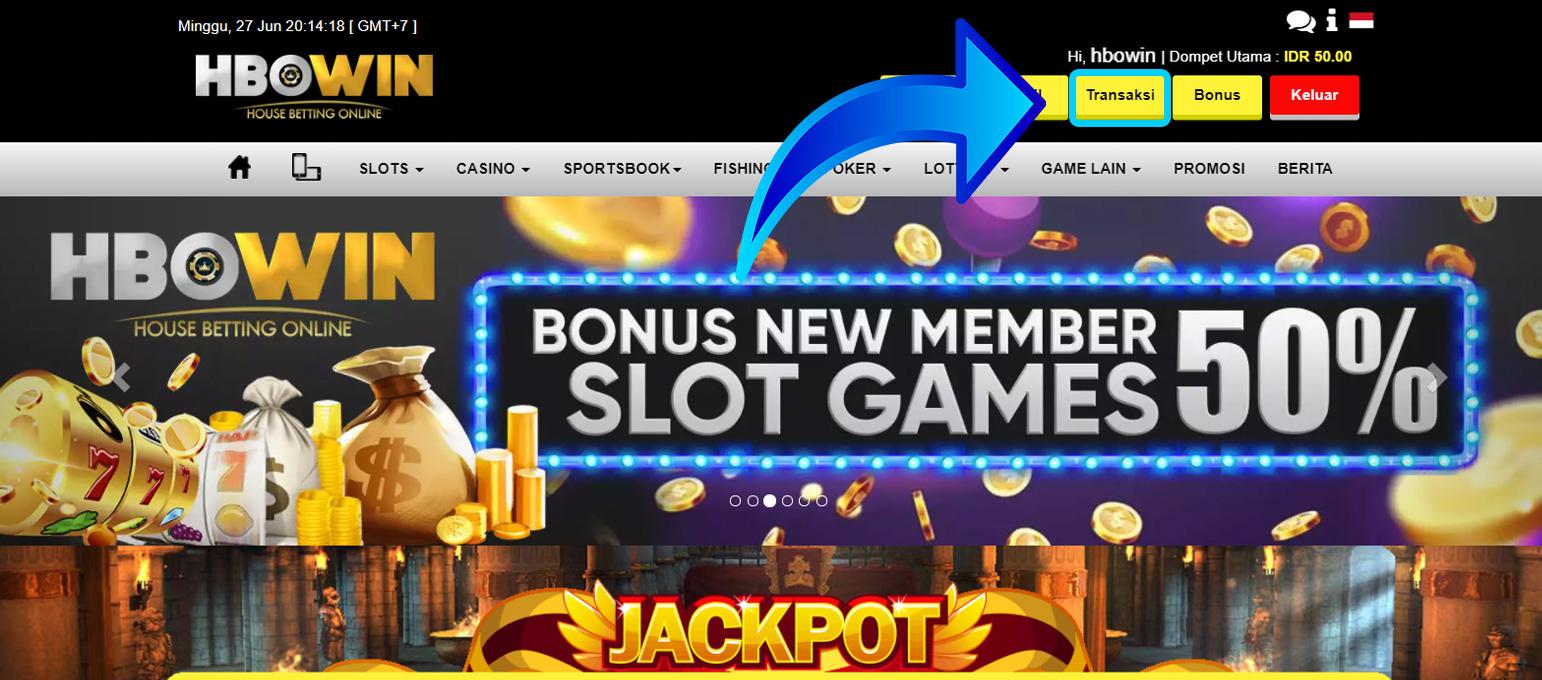 tutorial klaim bonus new member 50%