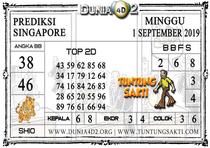 """Prediksi Togel """"SINGAPORE"""" DUNIA4D2 1 SEPTEMBER 2019"""