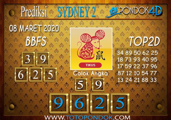 Prediksi Togel SYDNEY 2 PONDOK4D 08 MARET 2020