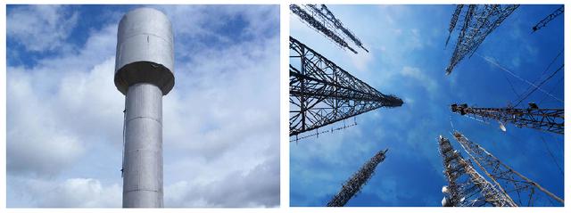 Обследование водонапорной башни и башни связи