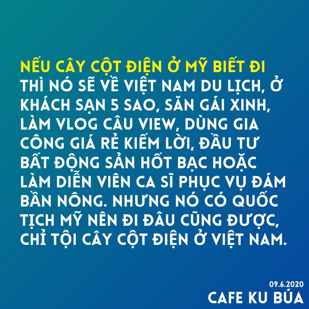 NẾU CÂY CỘT ĐIỆN Ở MỸ BIẾT ĐI