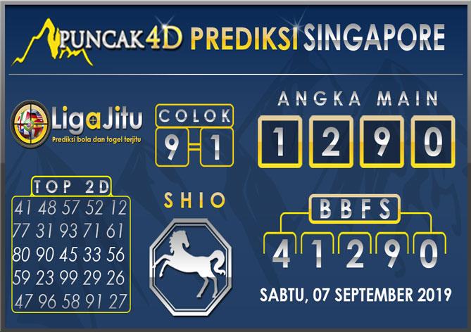 PREDIKSI TOGEL SINGAPORE PUNCAK4D 07 SEPTEMBER 2019