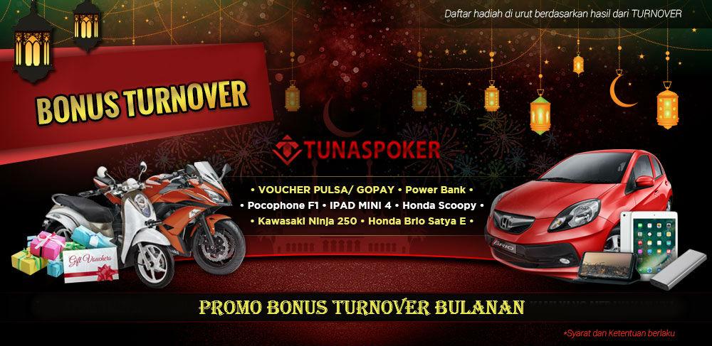 Bonus Mobil Tunaspoker promo Bulanan