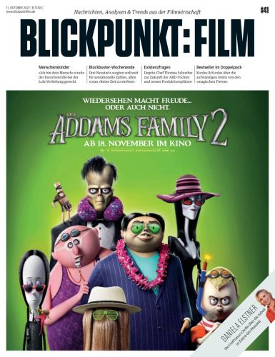 Cover: Blickpunkt Film Magazin No 41 vom 11  Oktober 2021