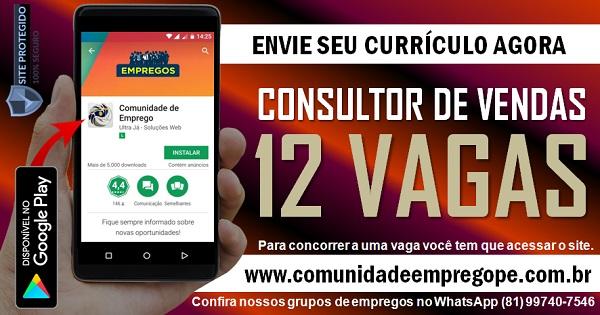 CONSULTOR DE VENDAS, 12 VAGAS COM SALÁRIO R$ 1200,00 PARA EMPRESA FINANCEIRA