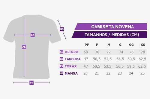 Medidas Camiseta Novena 2021