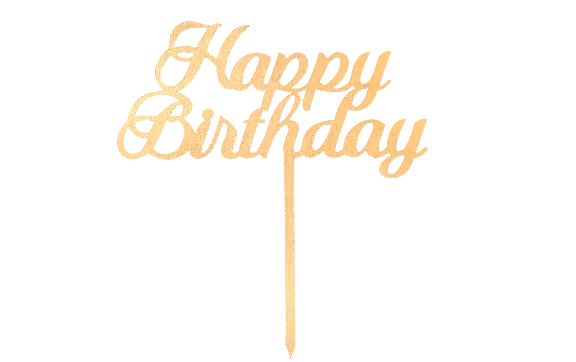 Letrero Happy birthday
