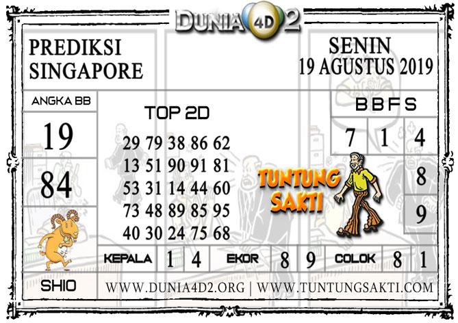 """Prediksi Togel """"SINGAPORE"""" DUNIA4D2 19 AGUSTUS 2019"""