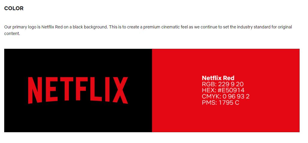 Netflix Brand Color