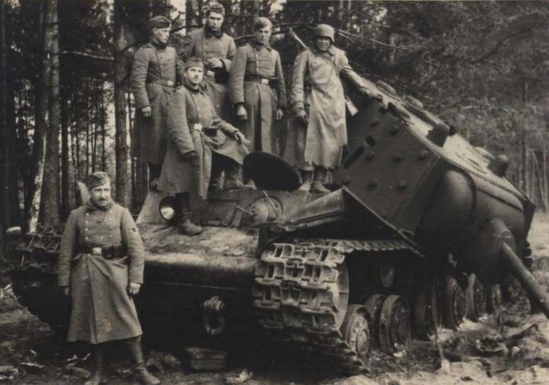Broken Soviet tank KV-1