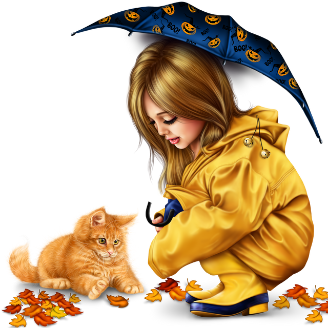 little girl in raincoat with a kitty png 5803791bbfb9ce878.png