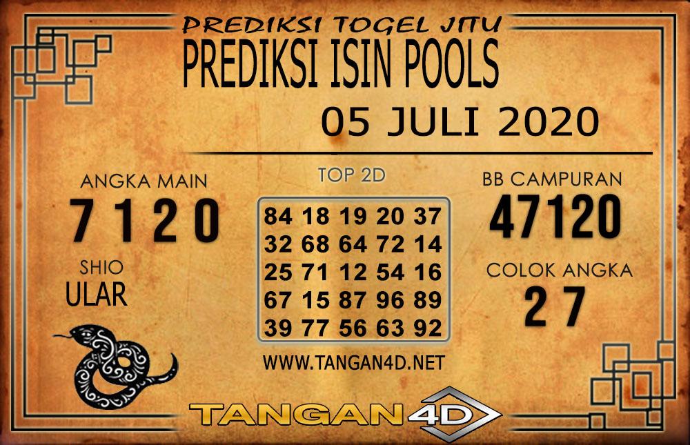 PREDIKSI TOGEL ISIN TANGAN4D 05 JULI 2020