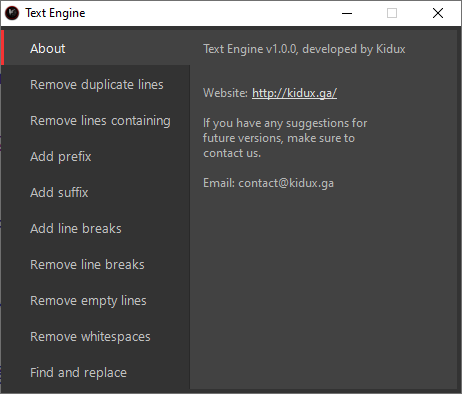 Text Engine v1.0.0 ( Combo Editor ) By Kidux