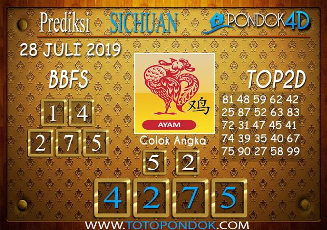 Prediksi Togel SICHUAN PONDOK4D 28 JULI 2019