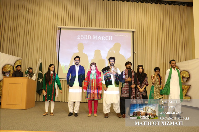 Pakistani students celebrated their national holiday