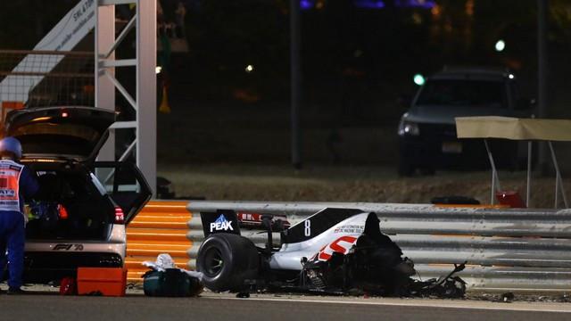 F1 GP de Bahreïn 2020 : Victoire  Lewis Hamilton  Grosjean-Haas-2