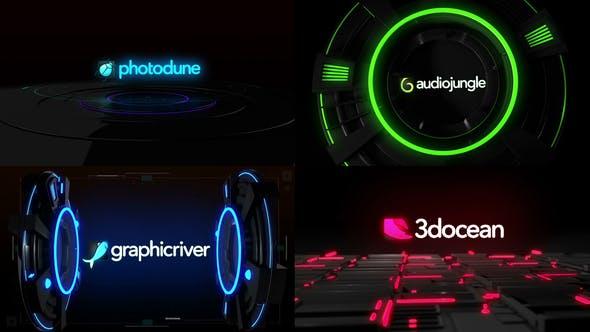 Videohive - High Tech Glitch Logo Pack - 24784316