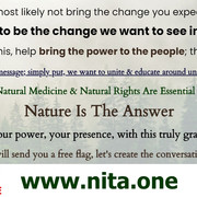 We Are To Be The Change - Nature Is The Answer NITA.ONE Election Share-Sheet