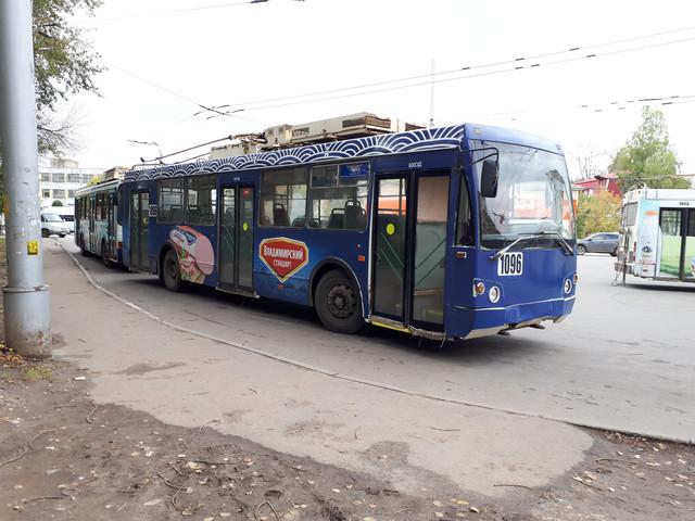 Обновление рекламы на троллейбусах для компании Владимирский стандарт
