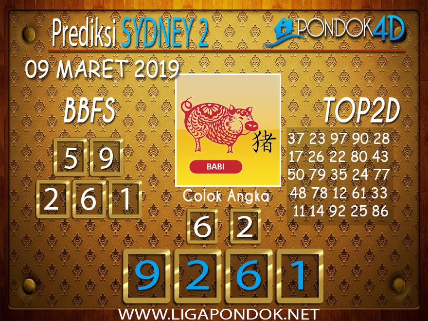 Prediksi Togel SYDNEY 2  PONDOK4D 09 MARET 2019