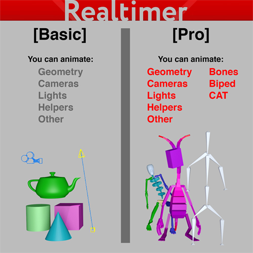 Realtimer version differences