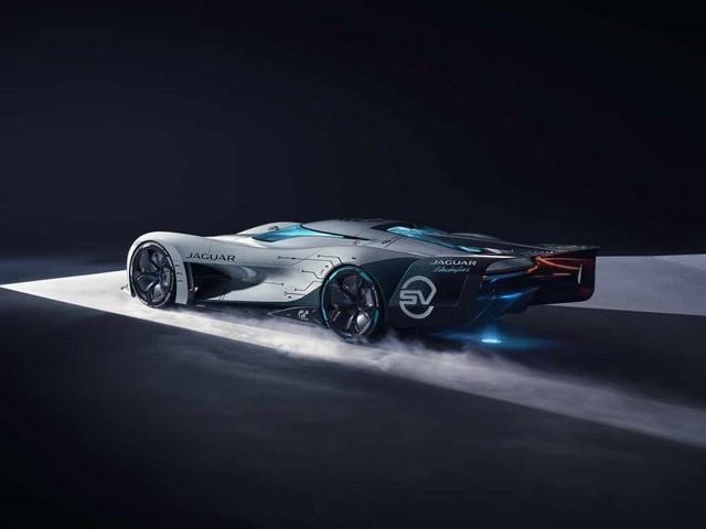 Jaguar Lève Le Voile Sur La Vision Gran Turismo SV : La Voiture De Course 100% Électrique Ultime Pour Les Passionnés De Course Automobile Jag-GTSV-Rear34-2-161220