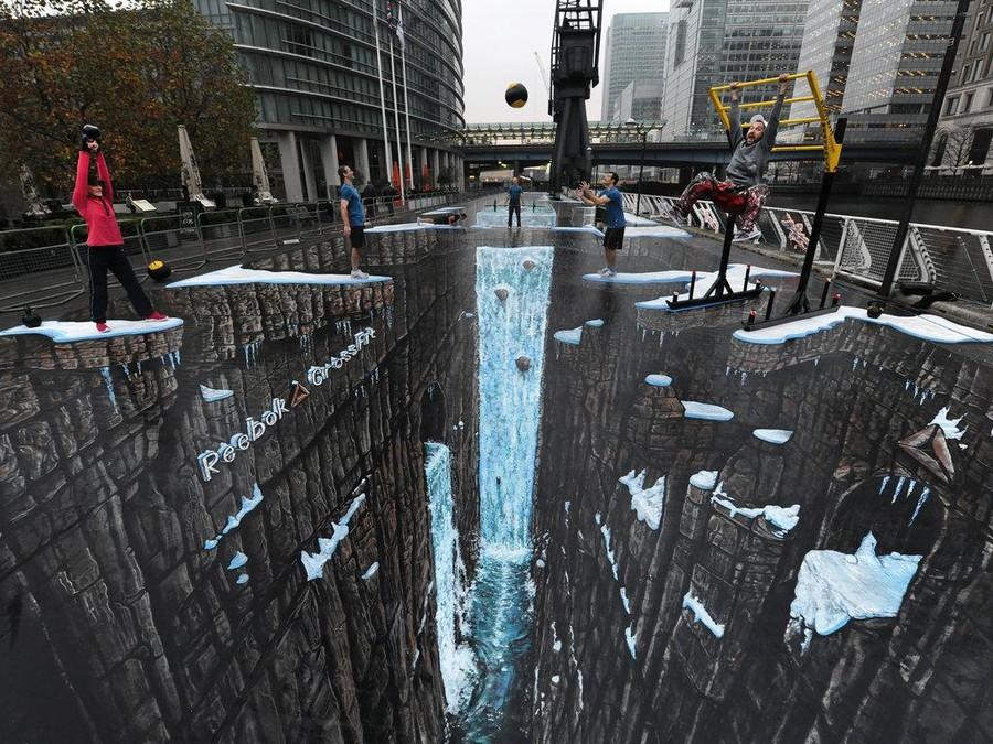 3D-рисунки на асфальте, которые стали современными достопримечательностями