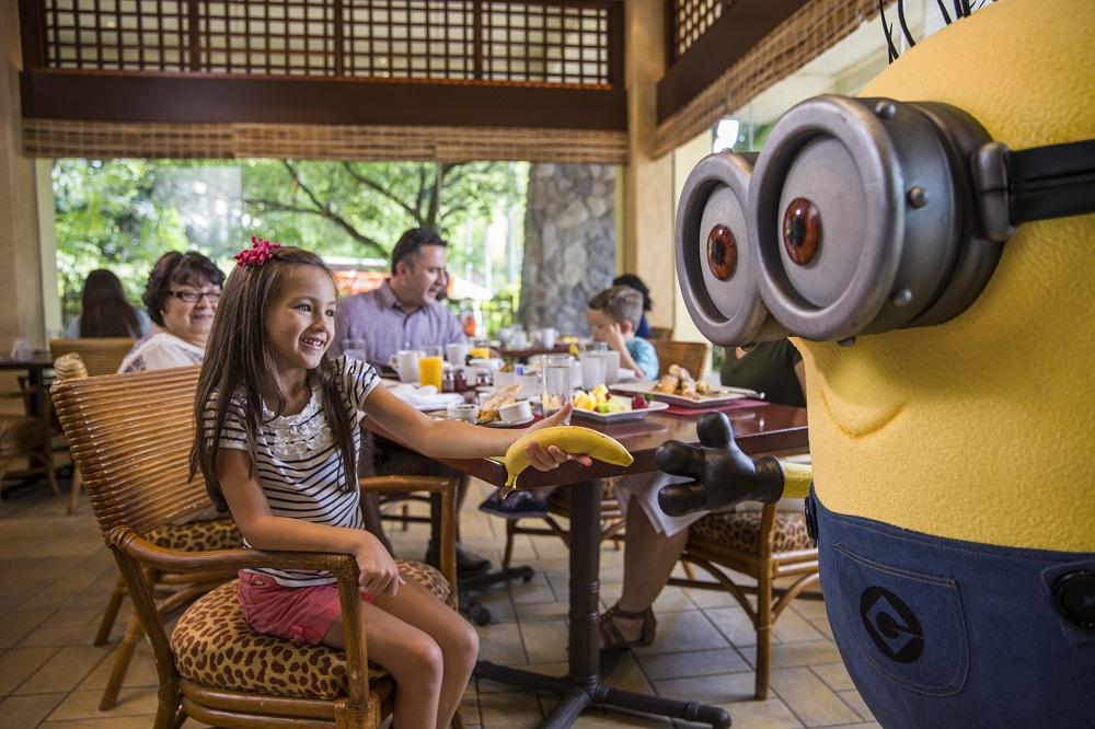 Minion character breakfast at Universal Orlando Resort