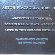 Astor Piazzolla Plaque on East 8th Street