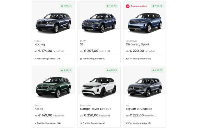 SUV Leasing Angebote bei VEHICULUM. Unter anderem mit Volvo XC40 Leasing für Privat und Gewerbe