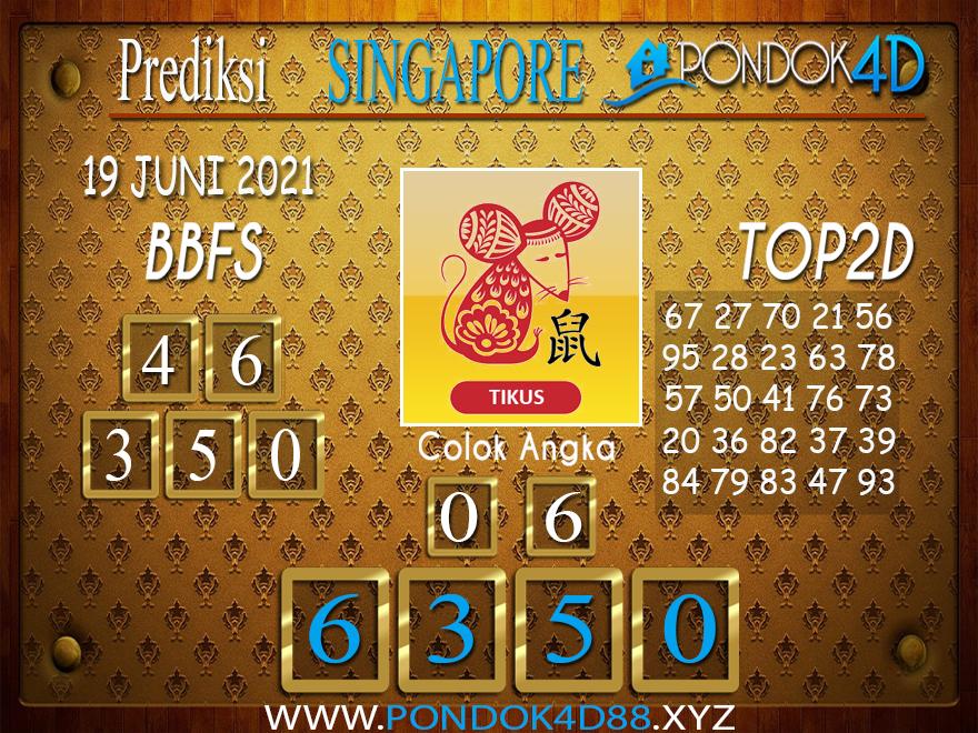 Prediksi Togel SINGAPORE PONDOK4D 19 JUNI 2021