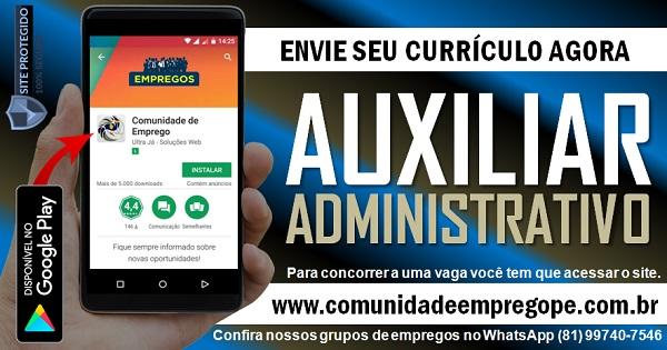 AUXILIAR ADMINISTRATIVO (ARQUIVO) PARA EMPRESA DE TRANSPORTE EM PRAZERES