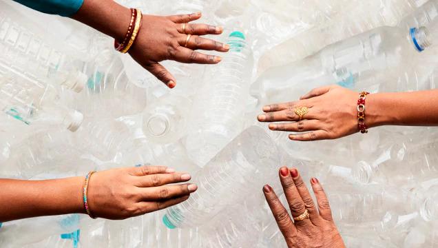Comércio com Comunidade de Plástico Reciclado