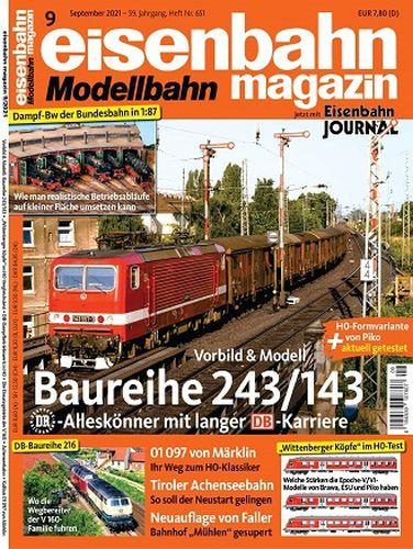 Cover: Eisenbahn Magazin No 09 September 2021