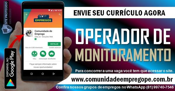 OPERADOR DE MONITORAMENTO, 02 VAGAS PARA EMPRESA DE TRANSPORTE