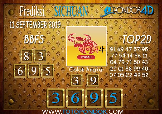 Prediksi Togel SICHUAN PONDOK4D 11 SEPTEMBER 2019