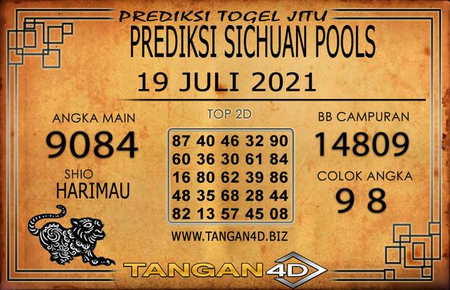 PREDIKSI TOGEL SICHUAN TANGAN4D 19 JULI 2021