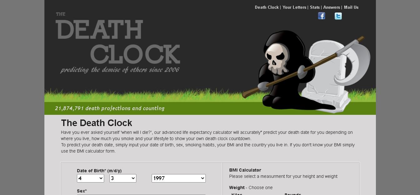 www.death_cloth.org पर देखे अपना मौत का तारिक www.death_cloth.org india
