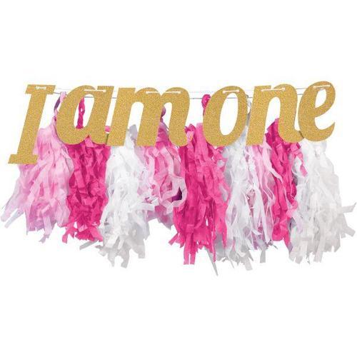 გირლანდა I am one ვარდისფერი