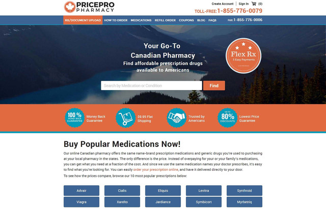GET ONLINE MEDICATIONS FROM PRICEPRO PHARMACY