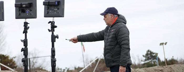 Victor Rambaldi on the set of his movie Trespass