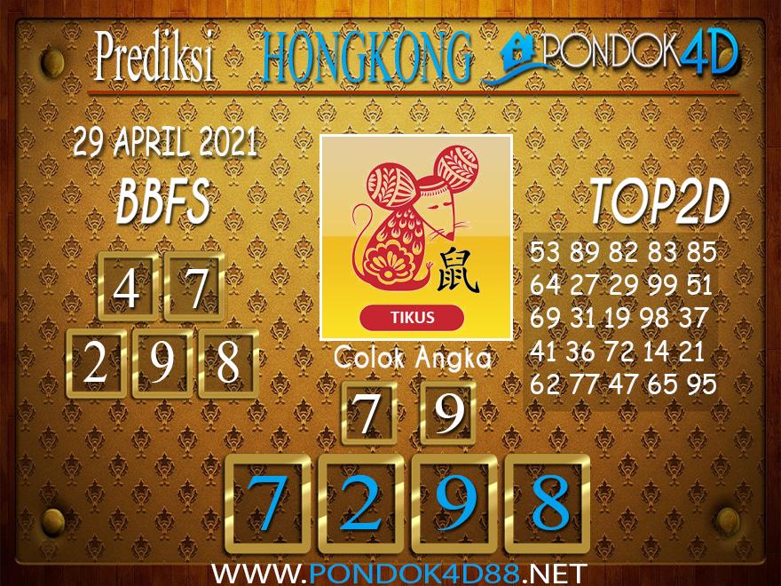Prediksi Togel HONGKONG PONDOK4D 29 APRIL 2021