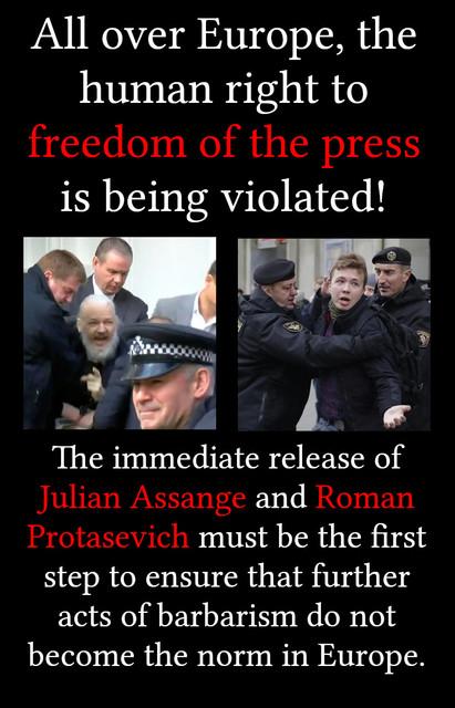 meme-julian-assange-roman-protasevich-freedom-press-human-rights-europe