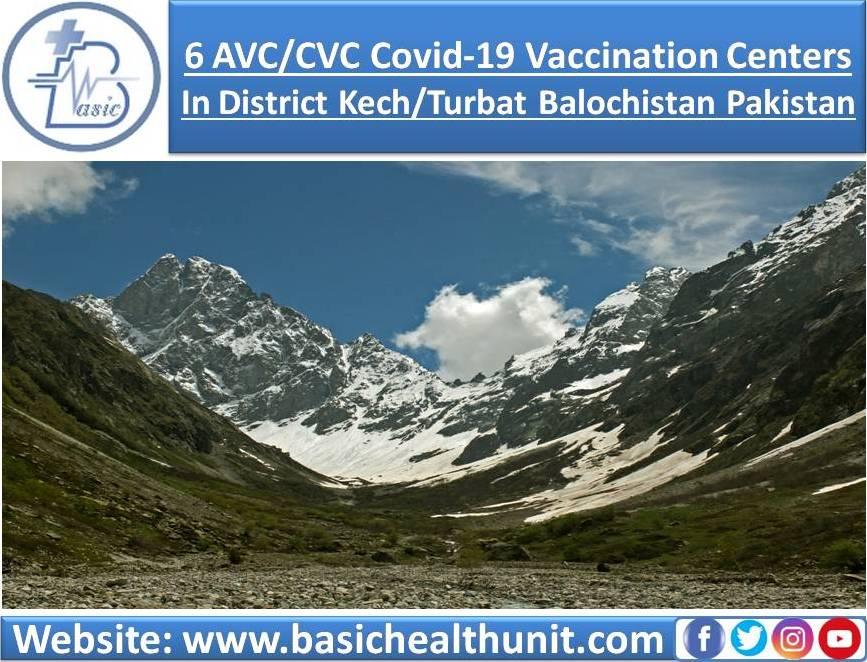6 AVC/CVC Covid-19 Vaccination Centers In District Kech/Turbat Balochistan Pakistan