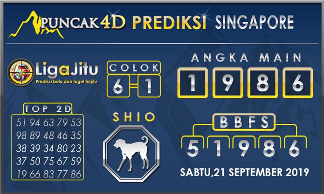 PREDIKSI TOGEL SINGAPORE PUNCAK4D 21SEPTEMBER 2019