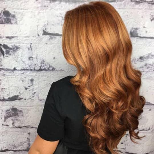 Warm Strawberry Blonde-strawberry-styled-hair