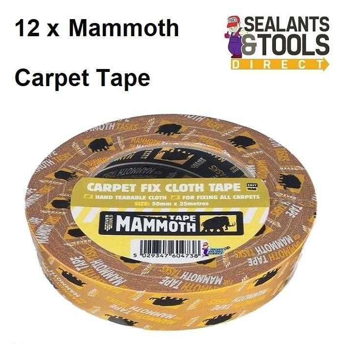 Everbuild Mammoth Carpet Fix Cloth Tape 50mm Box of 12