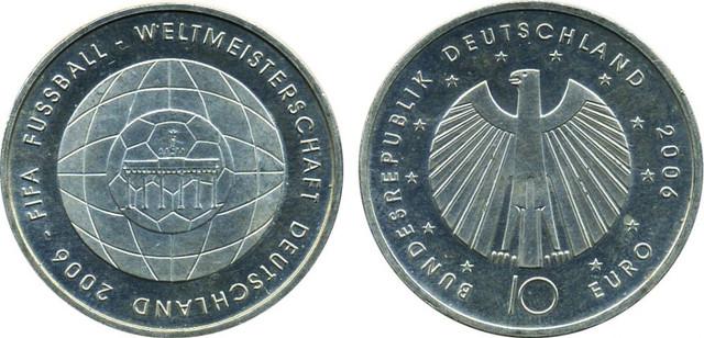 10 евро к Чемпионату миру по футболу 2006 года. Германия