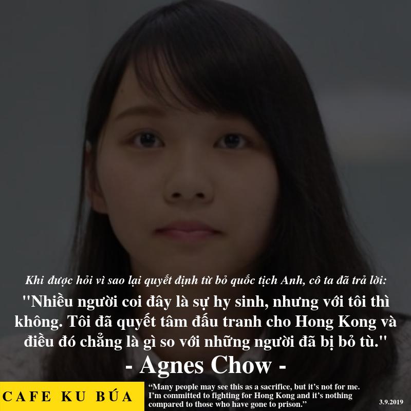 AGNES CHOW – SỰ HY SINH CHO HONG KONG CÓ XỨNG ĐÁNG?